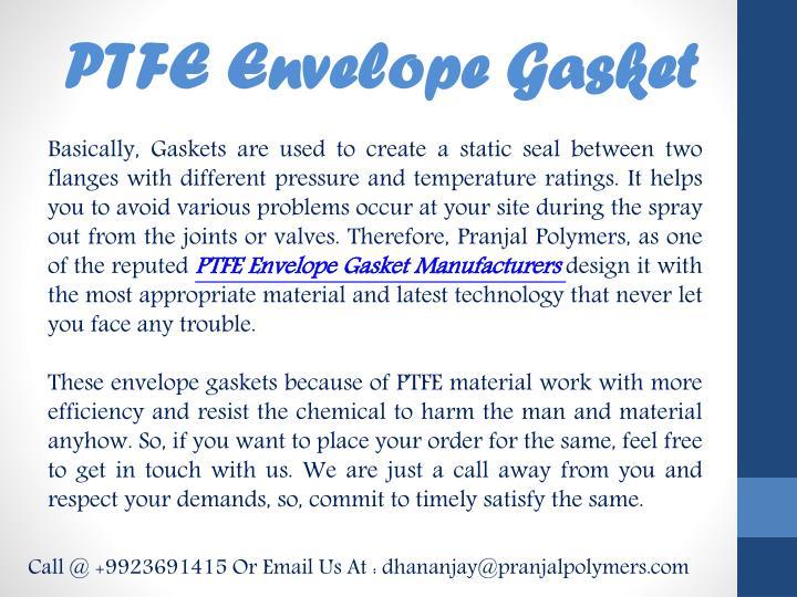 PTFE Envelope Gasket