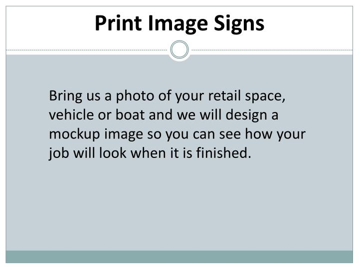 Print Image Signs