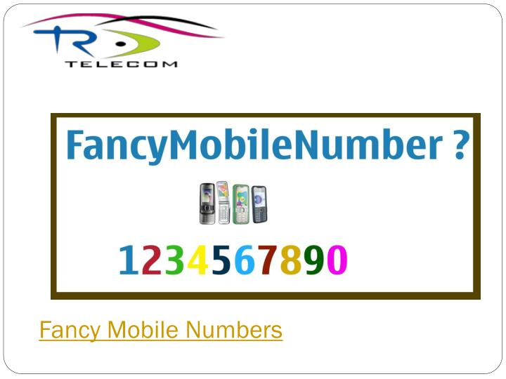 Fancy Mobile Numbers
