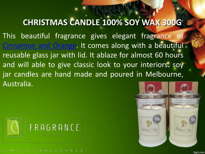 CHRISTMAS CANDLE 100% SOY WAX 300G