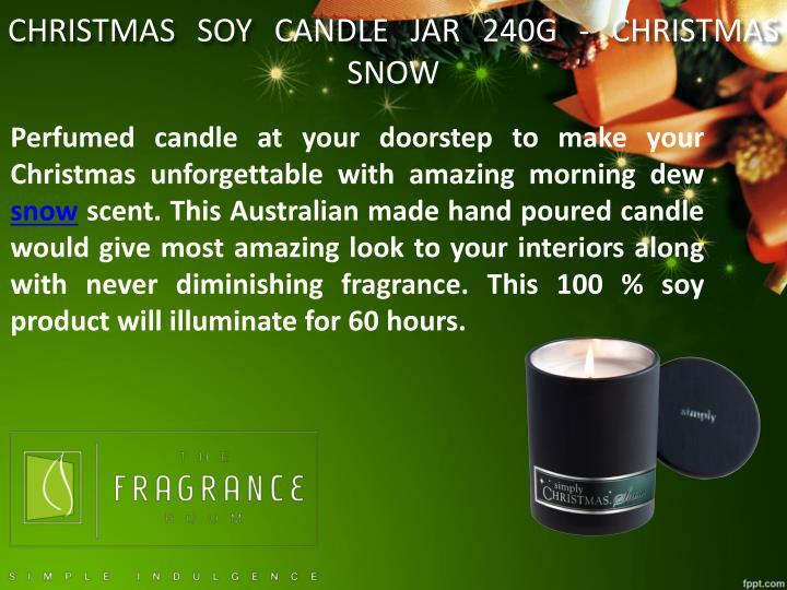CHRISTMAS SOY CANDLE JAR 240G - CHRISTMAS