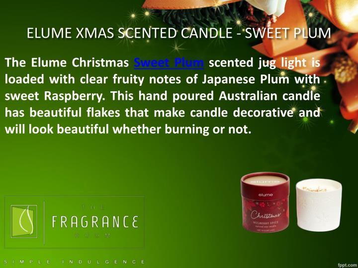 ELUME XMAS SCENTED CANDLE