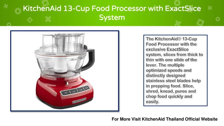 Kitchenaid 13 cup food processor with exactslice system