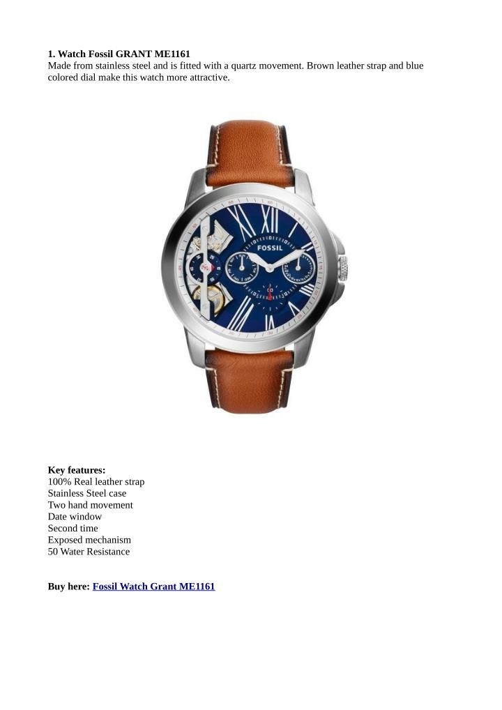 1. Watch Fossil GRANT ME1161