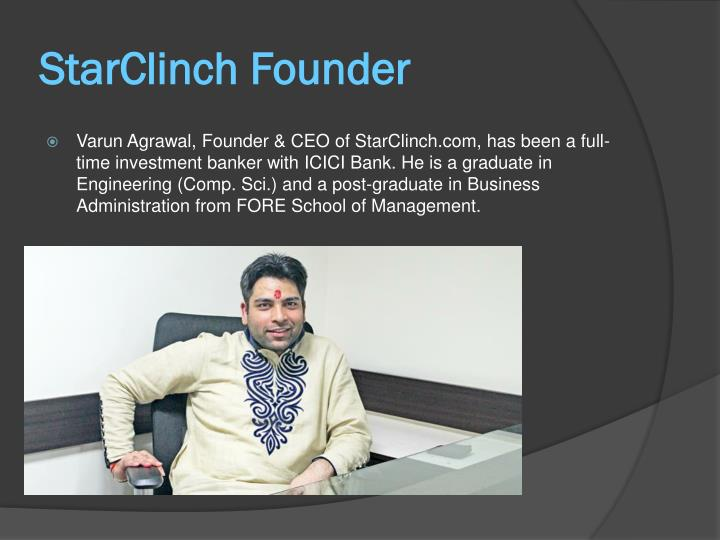 Starclinch founder