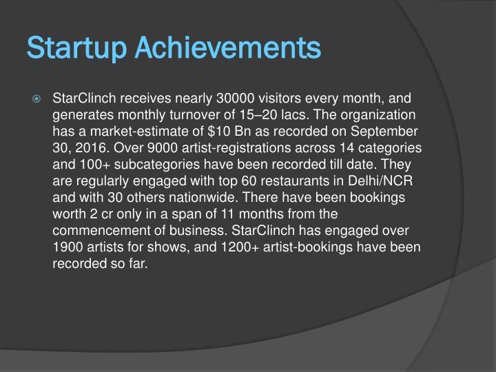Startup Achievements