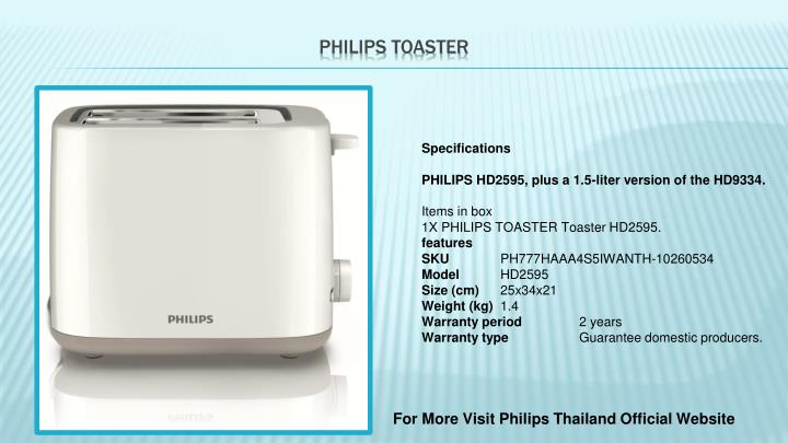 Philips toaster