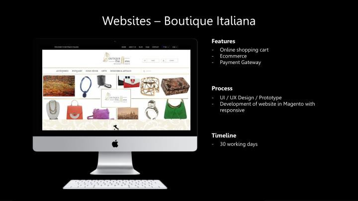 Websites – Boutique
