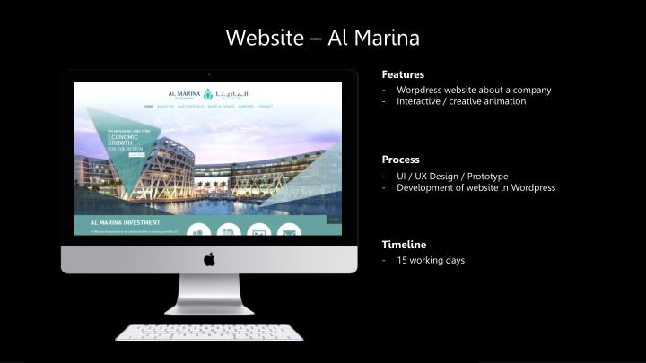 Website – Al Marina