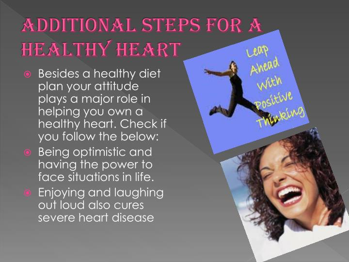Additional steps for a healthy heart