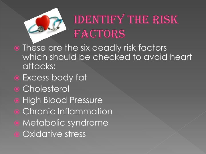 Identify the risk factors