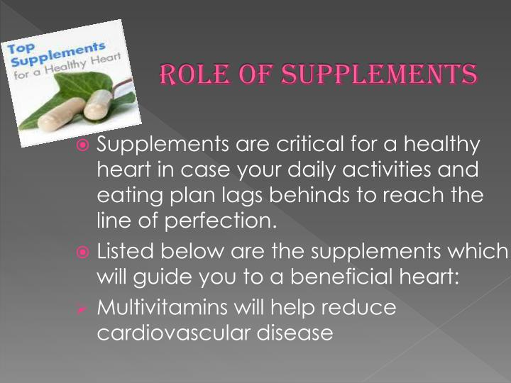 Role of supplements