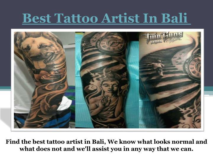 Best Tattoo Artist In Bali