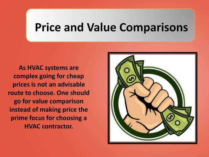 Price and Value Comparisons