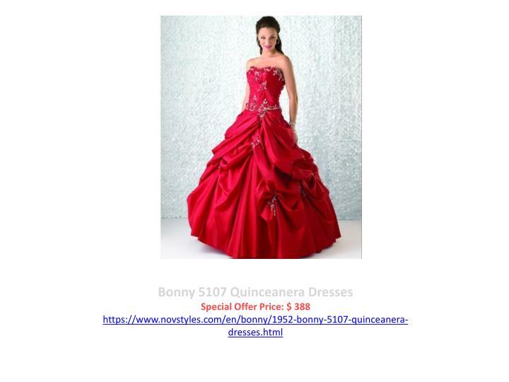 Bonny 5107 Quinceanera Dresses