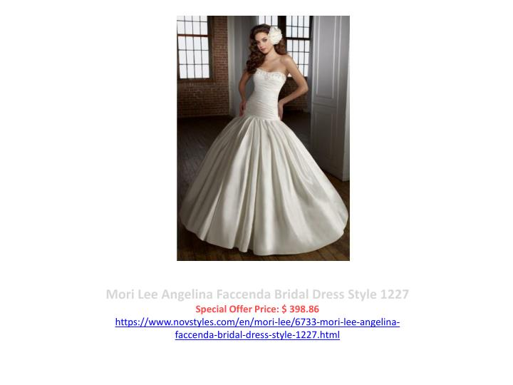 Mori Lee Angelina Faccenda Bridal Dress Style 1227