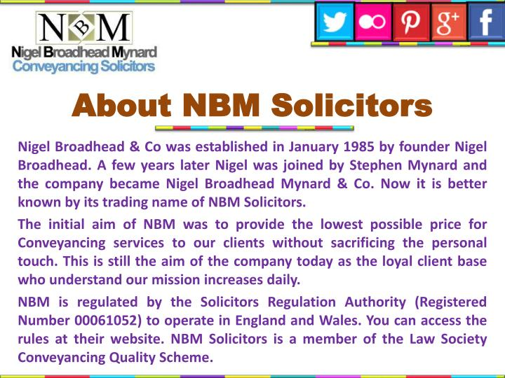 About nbm solicitors