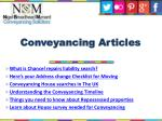 conveyancing articles