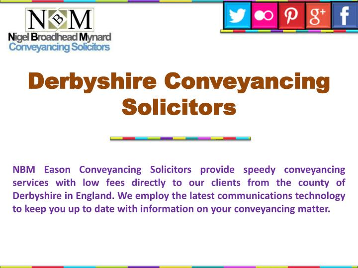 Derbyshire conveyancing solicitors