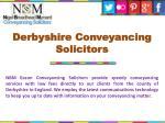 derbyshire conveyancing solicitors