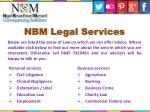 nbm legal services