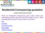 residential conveyancing quotation