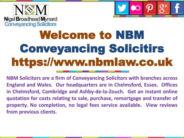 Welcome to nbm conveyancing solicitirs https www nbmlaw co uk