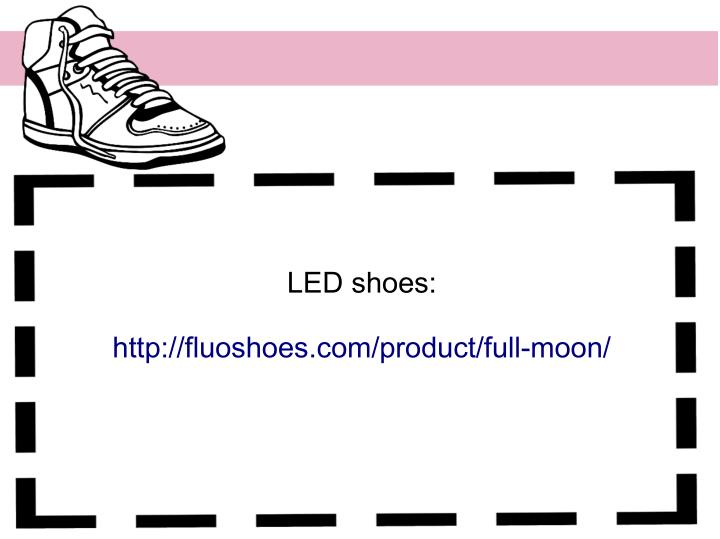 LED shoes: