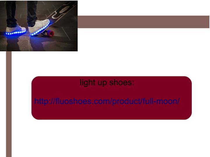 light up shoes: