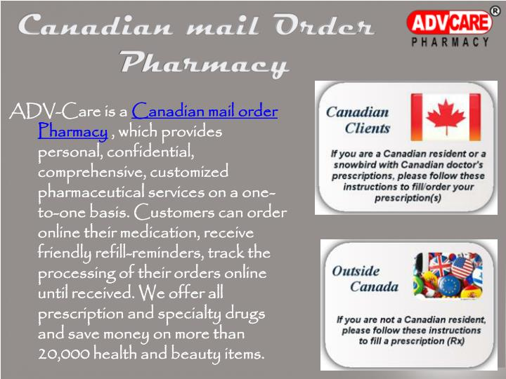 Canadian mail Order
