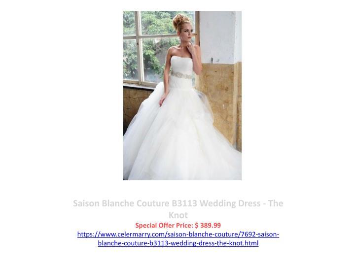 Saison Blanche Couture B3113 Wedding Dress - The Knot