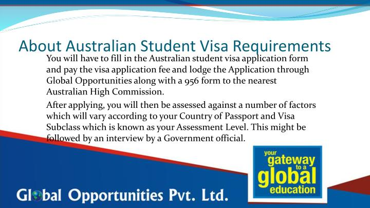 About Australian Student Visa Requirements