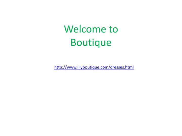 Welcome to boutique