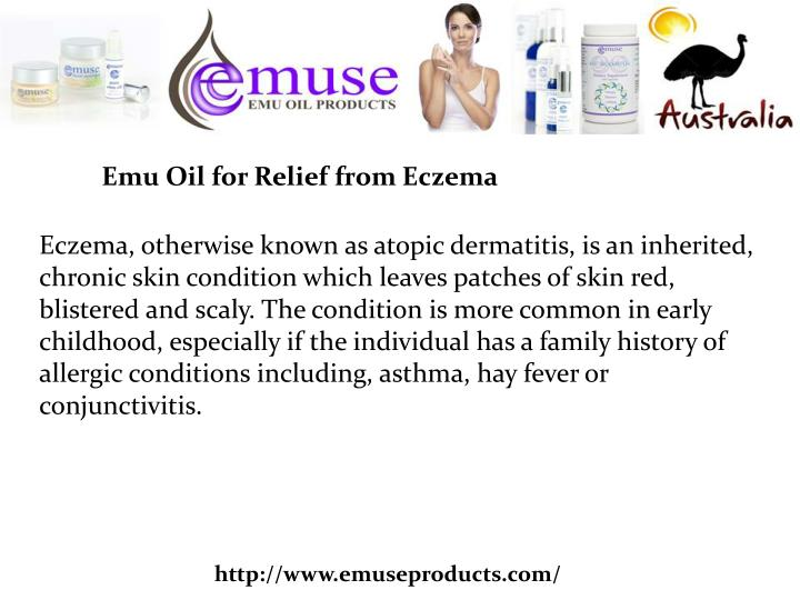 Emu Oil for Relief from Eczema