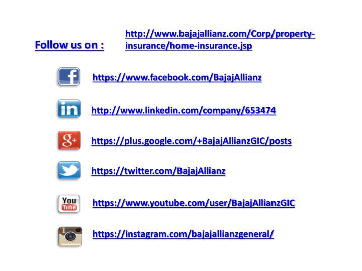 http://www.bajajallianz.com/Corp/property-insurance/home-insurance.jsp