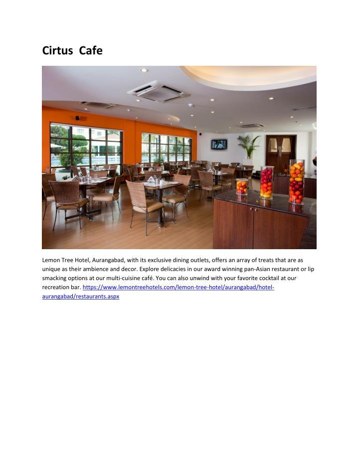 Cirtus  Cafe