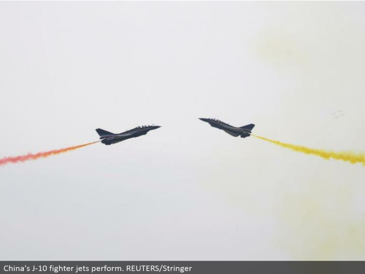China's J-10 contender planes perform. REUTERS/Stringer