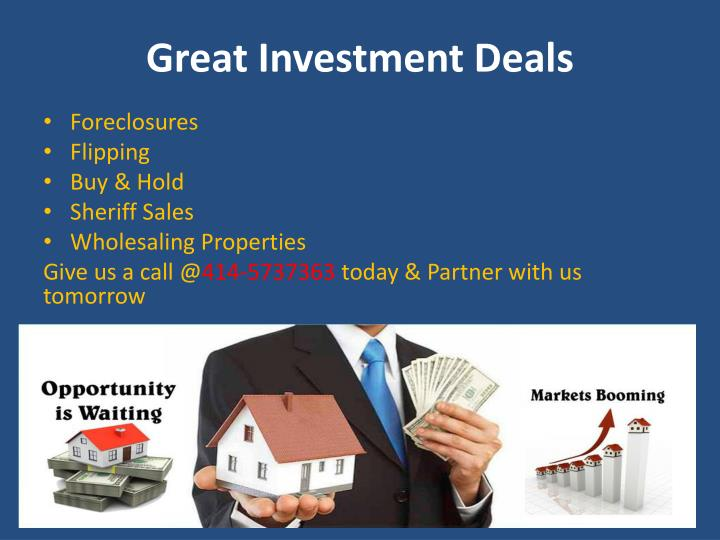 Great investment deals