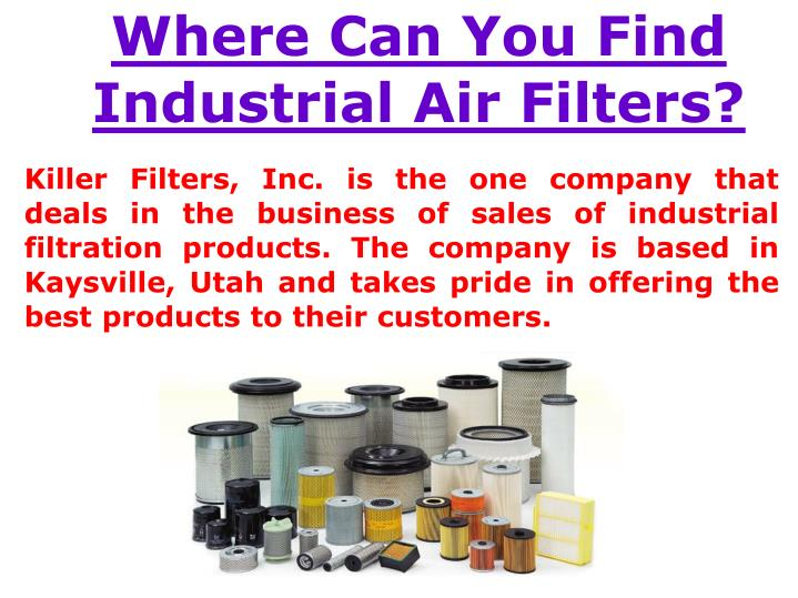 Where Can You Find Industrial Air Filters?