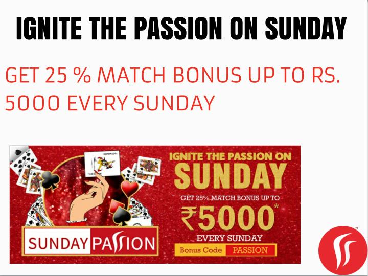 IGNITE THE PASSION ON SUNDAY