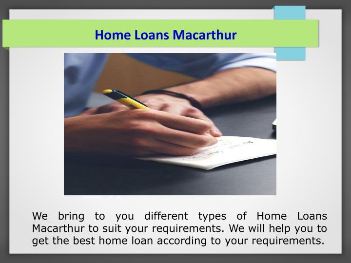 Home Loans Macarthur