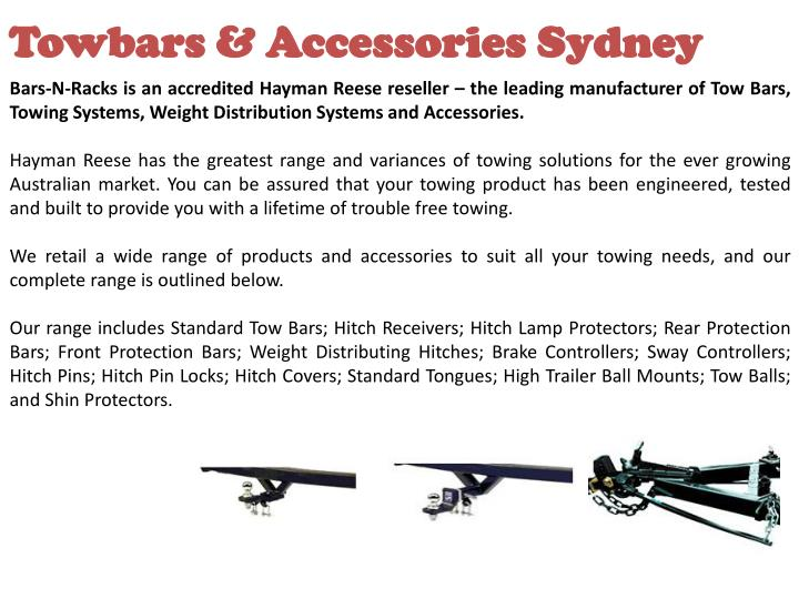 Towbars & Accessories Sydney