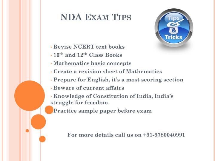 NDA Exam Tips