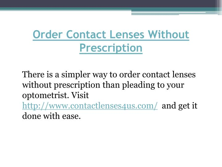Order Contact Lenses Without Prescription