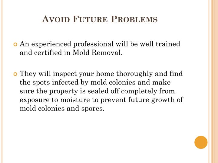 Avoid Future Problems