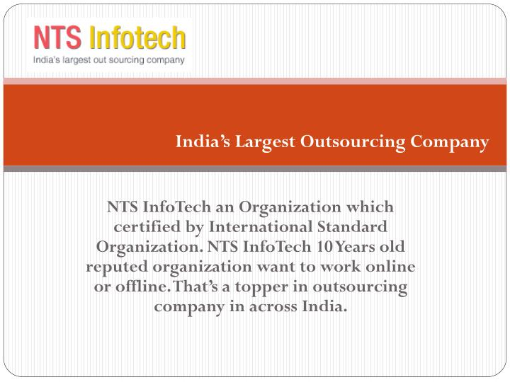 India's Largest Outsourcing Company