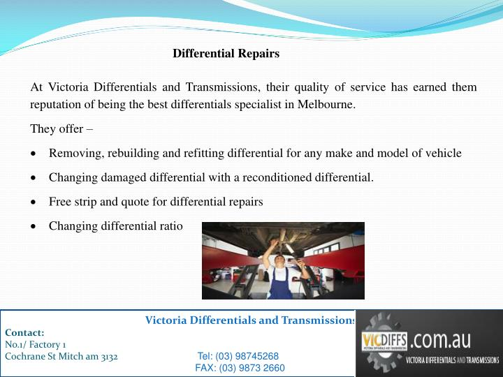 Differential Repairs