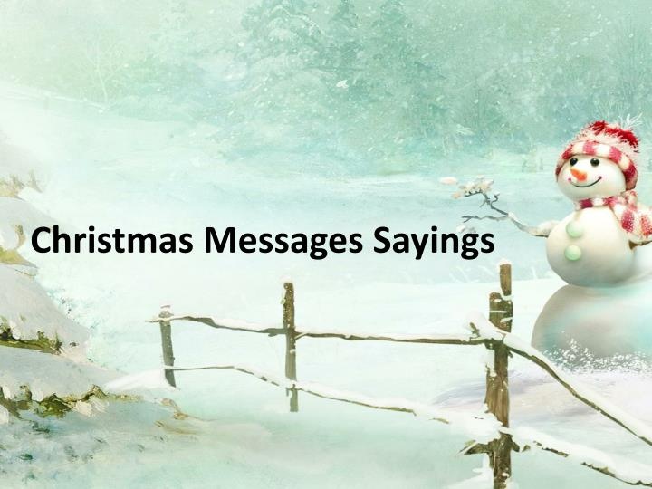 Christmas Messages Sayings