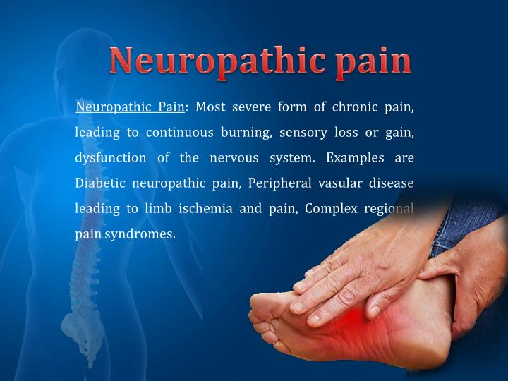 Neuropathic Pain: Most severe form of chronic pain,