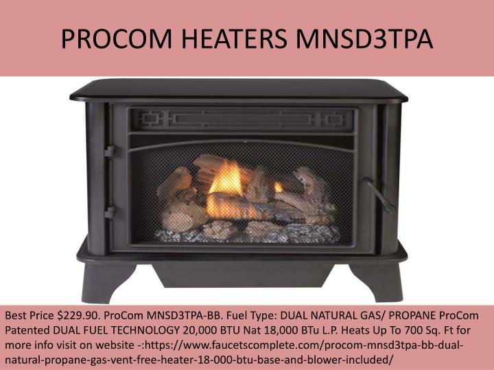 PROCOM HEATERS MNSD3TPA